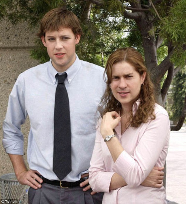 John Krasinski and Jenna Fischer from NBC's The Office get the full treatment