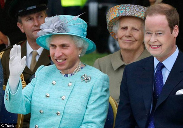 Old head on young shoulders: William may look up to his grandmother but this is one step too far