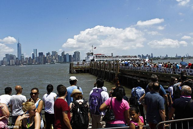 Long lines: The queues on the dock were long as tourists wanted to be there for the reopening