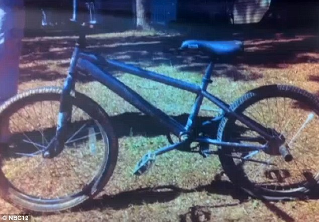 Discovery: This bicycle was found abandoned near to where witnesses saw a child being dragged into a van