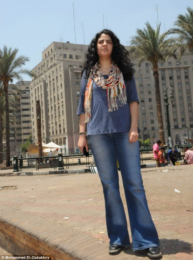 Trauma: Yasmine El Baramawy was subjected to a brutal rape in Cairo's Tahrir Square during the 'Arab Spring' in November 2012