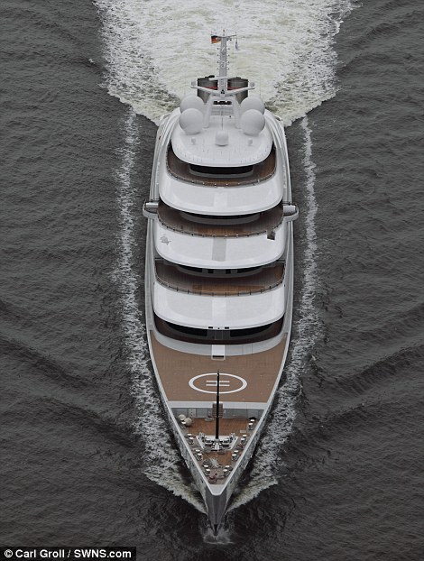 Worlds Largest Private Yacht Azzam Takes To The Sea