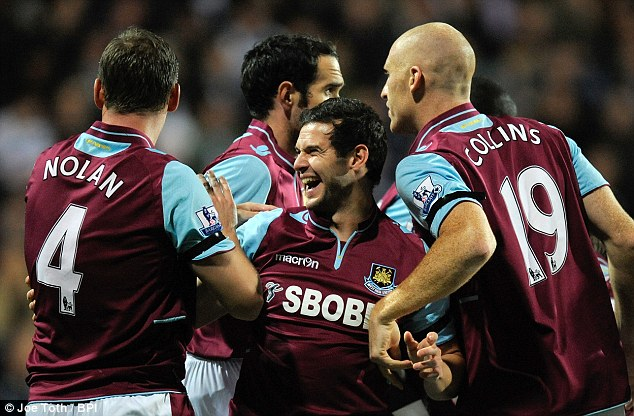Determined: Matt Jarvis is sure that clubs like West Ham can go on and win the domestic cups