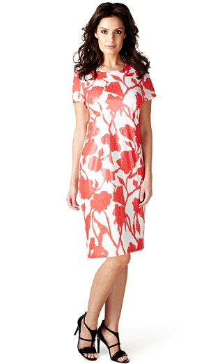 Per Una Speziale sequin floral shift dress (marksandspencer.com)
