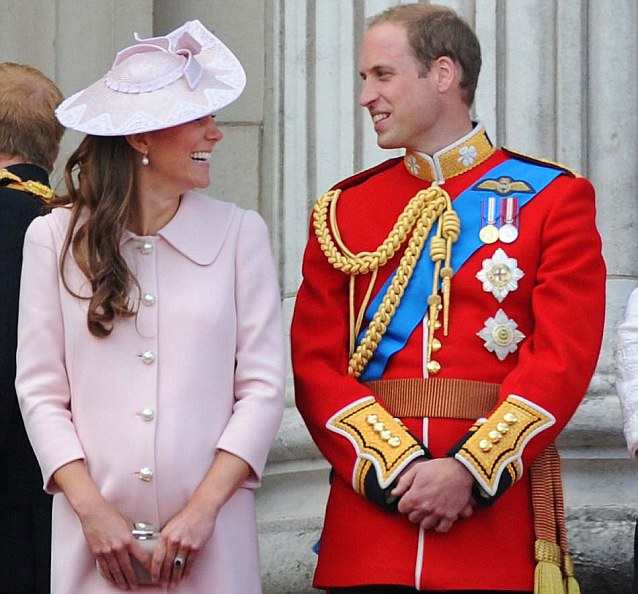 Kate and William, pictured at the Trooping the Colour in London, currently have the title of Duke and Duchess of Cambridge