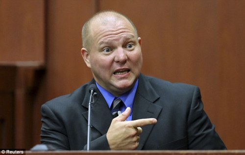Best friend: Mark Osterman testified about how Zimmerman had chosen and purchased his firearm and revealed that he could shoot with both hands