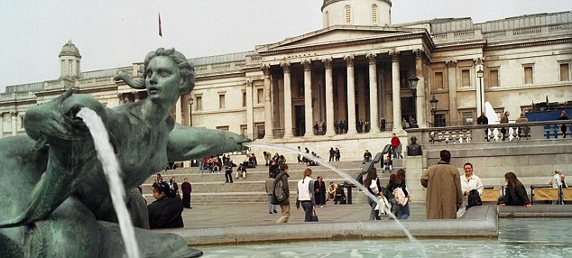 The police officer noticed the doctor filming women's legs and groins outside the National Gallery (file pic)