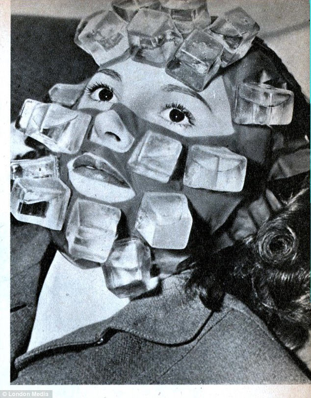 This Max Factor face pack was studded with plastic 'ice' cubes which could be filled with water before the mask was popped in the freezer. Hangover Heaven was popular with party-going Forties Hollywood stars