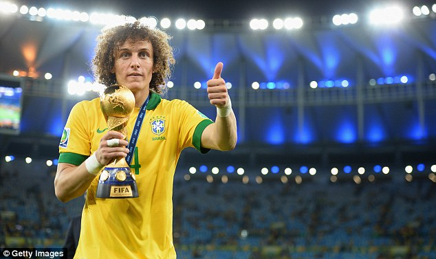 Highly rated: David Luiz is among the best defenders in the Premier League