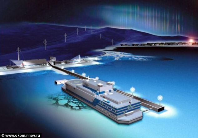 An artist's impression of the ship, which is designed to provide energy to big industrial companies, cut-off port cities and offshore oil and gas platforms