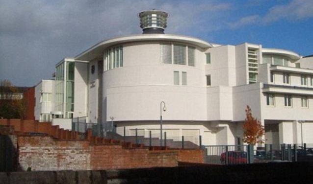 Langley was jailed for eight months, suspended for two years, at Exeter Crown Court (pictured) after admitting two offences of sexual activity with a male aged 13 to 17 while in a position of trust