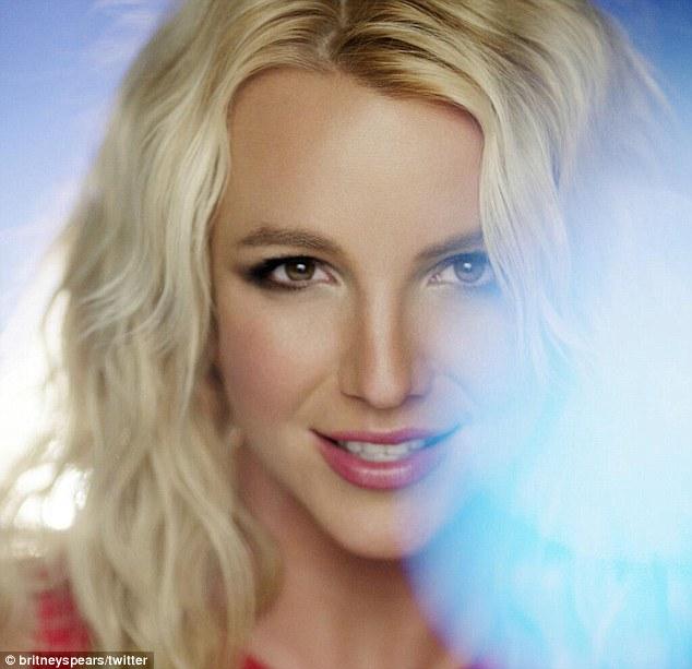 Ooh La La: Britney gave her fans a sneak peek of herself in the video on her Twitter page last month