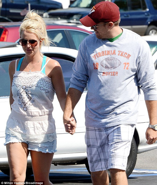 Happy: Britney is currently in a happy relationship with her boyfriend David Lucado