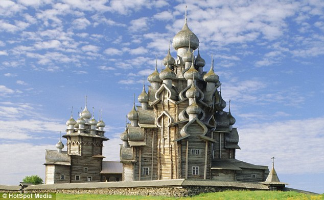 Incredible: This impressive Kizhi Pogost church, on Kizhi island, west Russia, is not only the world's tallest entirely wooden building , but it is also more than 150 years old