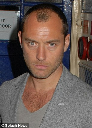 Happy underneath it all: Looks from celebrities like Jude Law and Anna Friel may look deadly, but they might be in great moods behind their grumpy resting faces