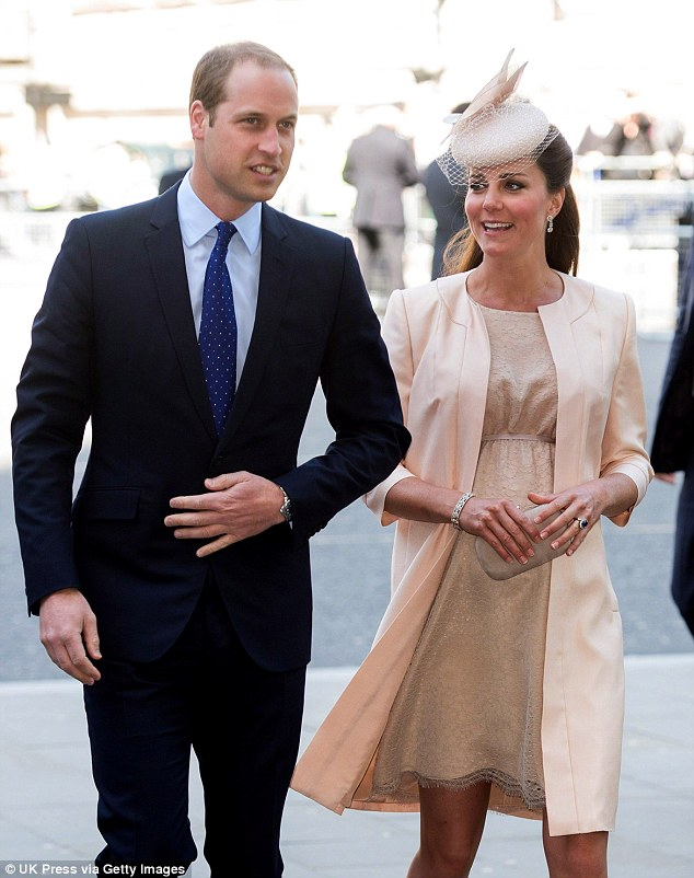 Excitement: William and Kate's first child will be the Queen's third great-grandchild. Her husband is by her side