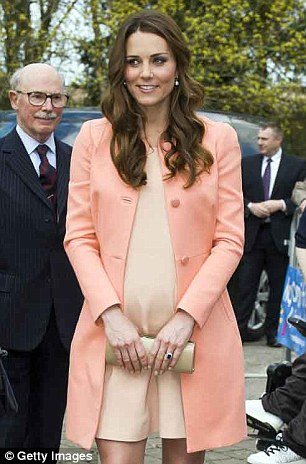 Proud: The Duchess of Cambridge has become a mother for the first time after giving birth to a healthy baby boy and future king