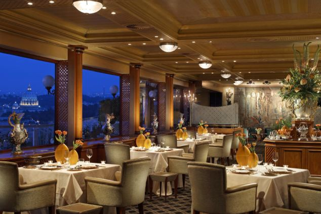 La Pergola in Rome also features in the luxury trip, which will also include business class travel and five-star hotels