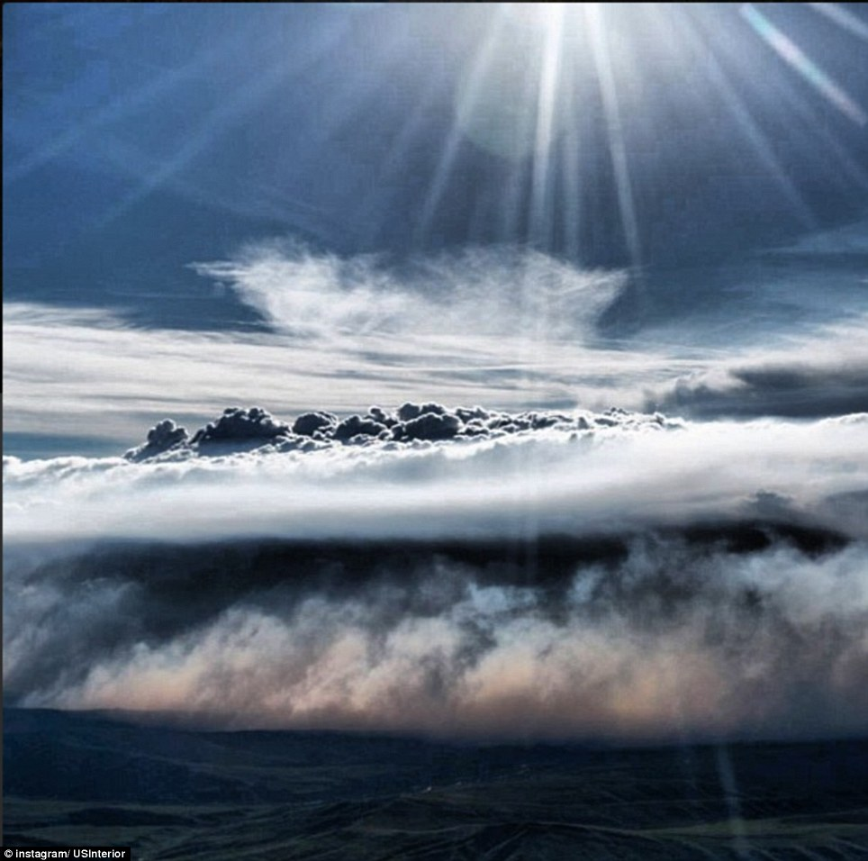 Alaska: The line between smoke and clouds blurs above the Toklat River East Fire