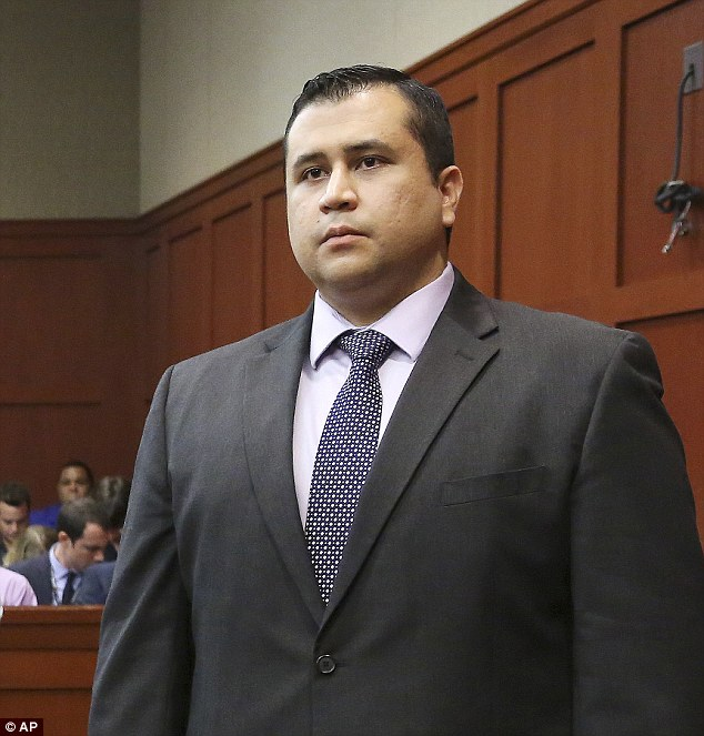 Like a stone: Zimmerman showed no emotion as the verdict of 'not guilty' was read aloud in the court room