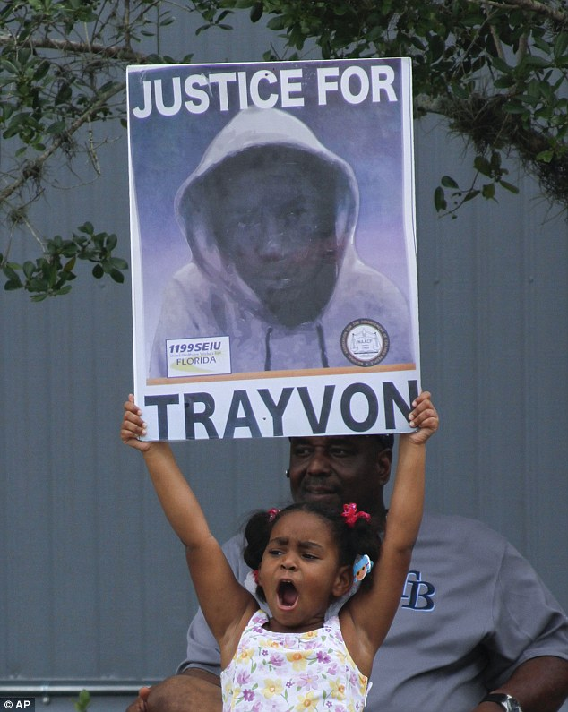 Despair: Supporters of Trayvon Martin say the verdict is a slap in the face for the American people