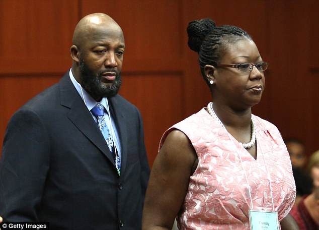 Emotional: Trayvon's parents Tracy Martin and Sybrina Fulton on day 20 of the trial into their son's shooting