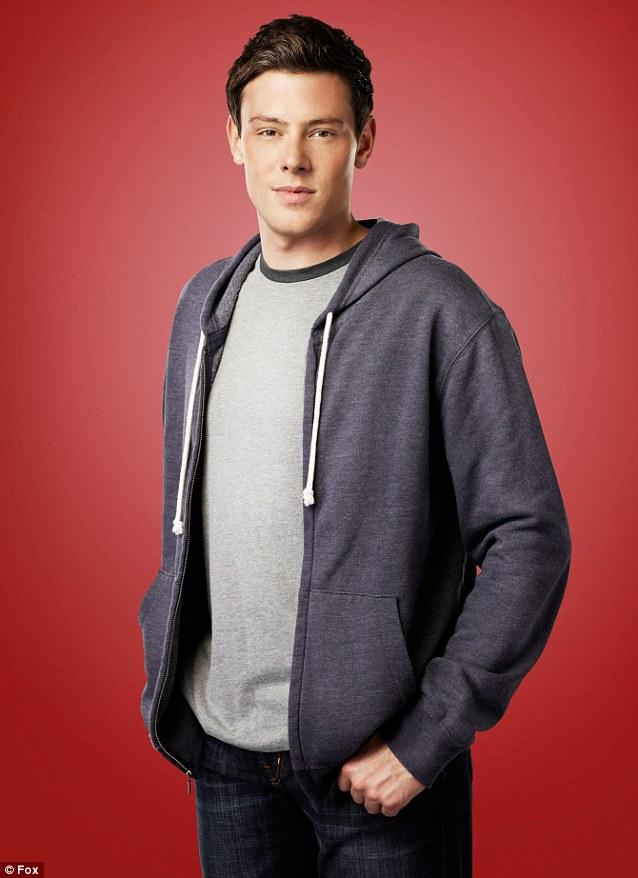 Gone too soon: Cory was known for his role as Finn Hudson on the hugely popular series Glee