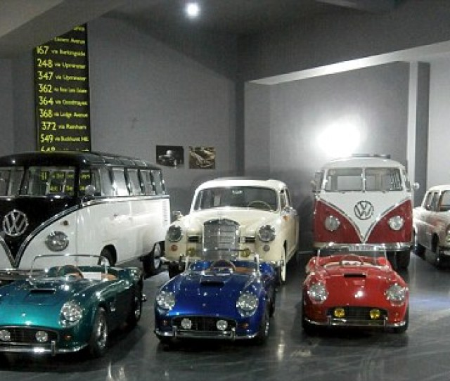 Smaller The Miniature Ferrari  California Spider Cars Are Pictured Front With Average