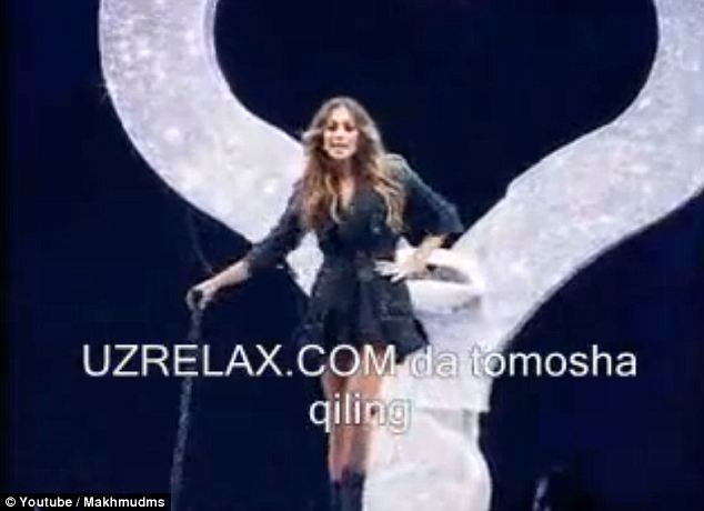 Easy money? A still from a Youtube shows Jennifer Lopez during her 2011 performance at the lavish wedding of the son of corrupt Uzbek industrialist Azam Aslanov. She was reportedly paid $1 million for the gig
