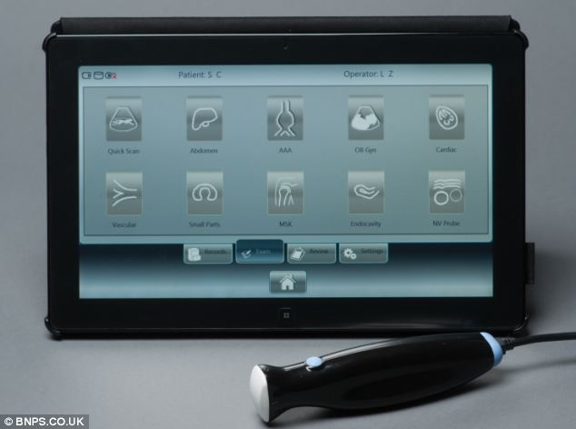 The MobiUS scanner is supplied with its own Windows tabletThe MobiUS scanner is supplied with its own Windows tablet