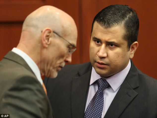 Anger: George Zimmerman, pictured with West in court on Friday, could seek for compensation over how he was treated following Trayvon's death, his lawyers have said