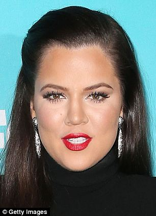 Khloe's favourite product is the Stroke of Midnight Mascara, she says: 'It creates the faux-lash look without flaking - I'm hooked'