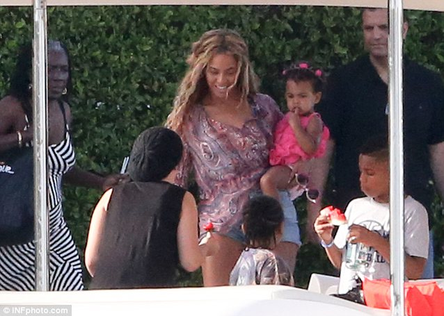 Flower girl: Blue Ivy wore pretty petals in her short curly hair
