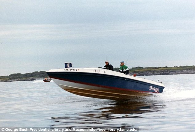 Man of action: Neil Bush rescued the stranded group in his family's famous boat, Fidelity IV