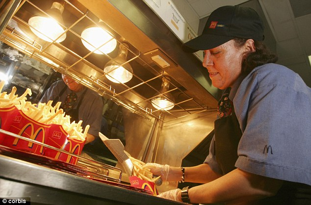 Struggling: Employees from McDonald's, Wendy's, Taco Bell, KFC, Burger King and Domino's Pizza have gone on strike to demand higher wages