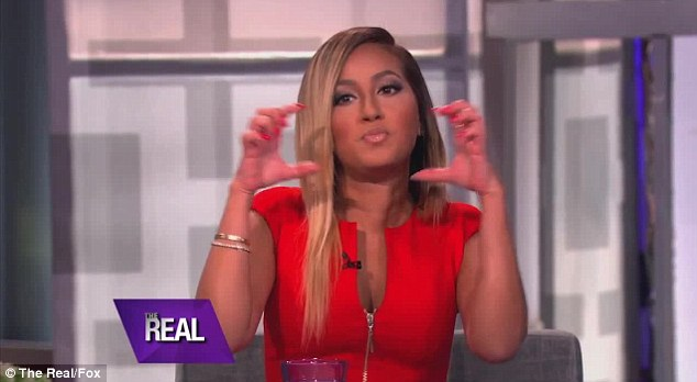 Tattoo regret: Adrienne Bailon admitted to being embarrassed by the tattoo of her ex Rob Kardashian's name on her behind on her new chat show, The Real, this week