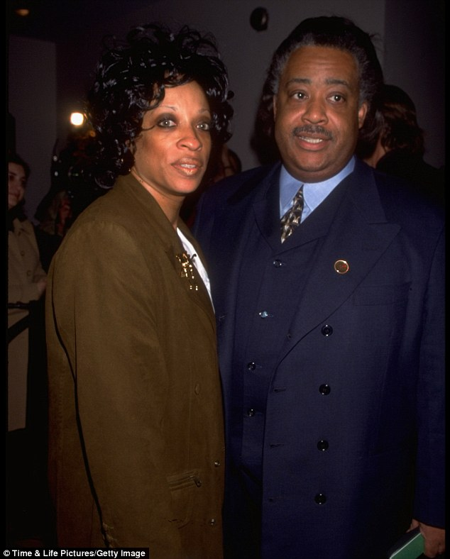 Amicable: Sharpton and his ex-wife Kathy Jordan, pictured here in 1998, divorced in 2004