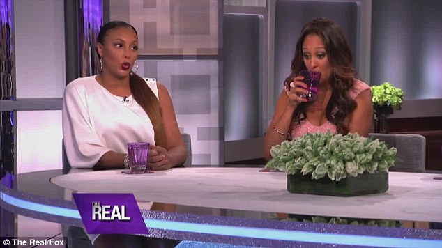 Slammed: 'The ratchet part is that it's still there and y'all not together anymore,' co-host Tamar Braxton (left) blasted the actress, as Tamera Mowry-Housley looked on uncomfortably