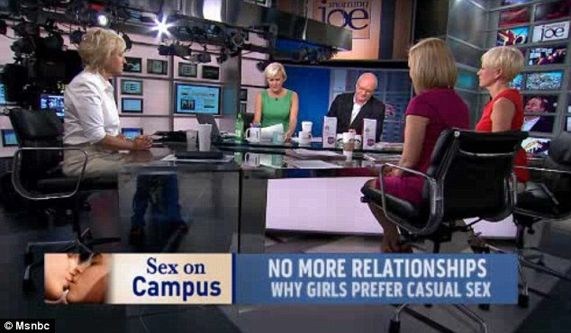 Hashing it out: In a roundtable discussion on MSNBC's Morning Joe, Cosmopolitan editor-in-chief Joanna Coles and Newsweek editor-in-chief Tina Brown, joined host Mika Brzezinski, as well as Ms Taylor herself, to discuss the article