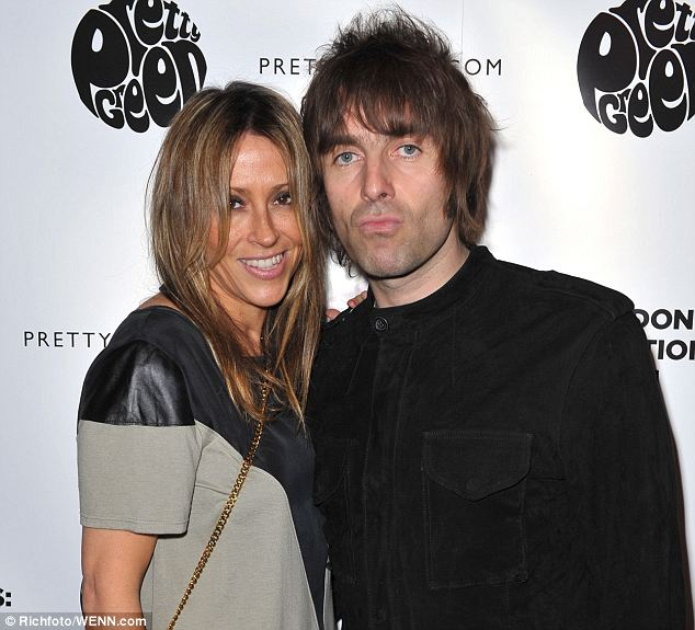 Married: Former All Saints singer Nicole Appleton (left) has been married to Gallagher since 2008 (seen together in January of this year)