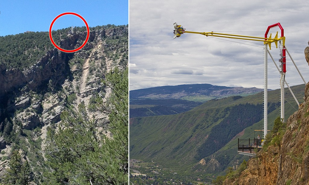 swing chair over canyon navy wingback is this the world s scariest new giant ride installed on edge of 1 300ft cliff daily mail online