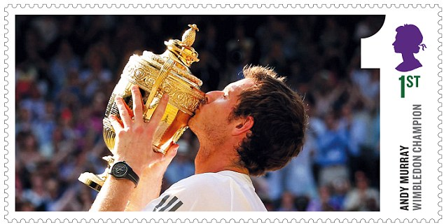The Royal Mail is to mark Andy Murray's historic victory in the Wimbledon men's tennis final with a special set of stamps