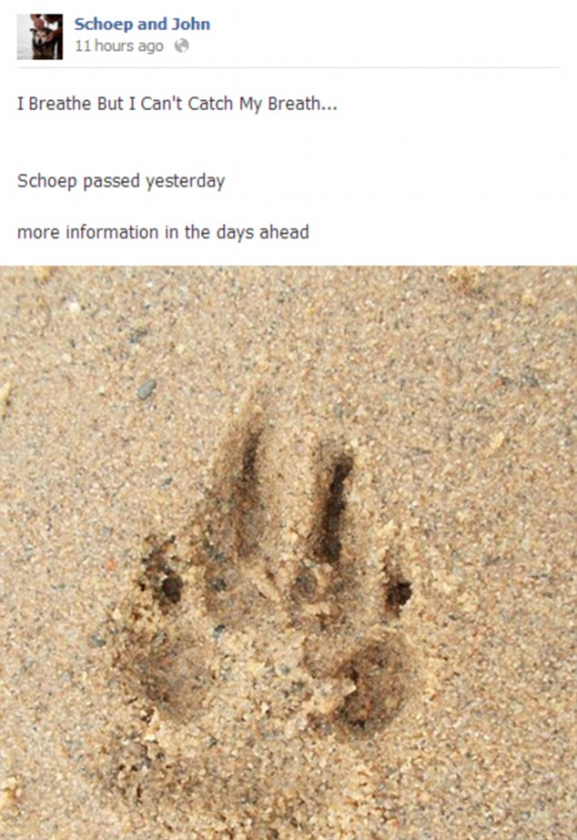 I breathe but I can't catch my breath: Schoep's owner John Unger posted this on Facebook to announce his death