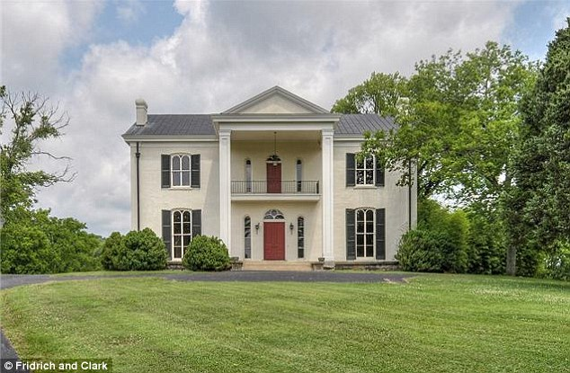 Classic: this stately Antebellum style mansion stands at the heart of the Tennessee property that Faith Hill and Tim McGraw have put on the market for $20million