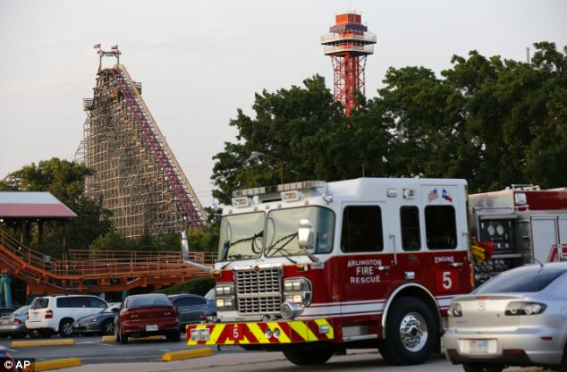 A woman died on the Texas Giant roller coaster at the Six Flags Over Texas in Arlington, Texas on Friday evening