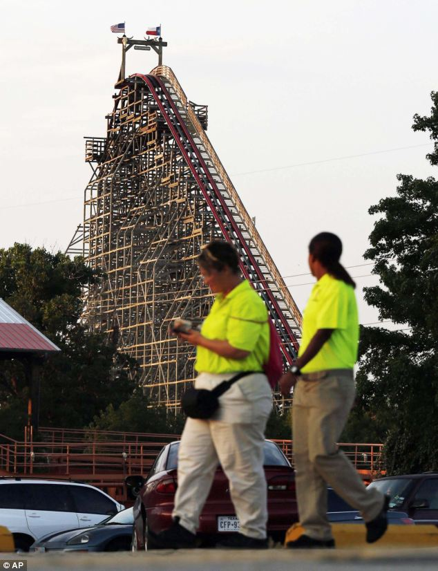 One witness told The Dallas News that the woman had gotten on the ride with her son and that they believe she mustn't have been strapped in correctly