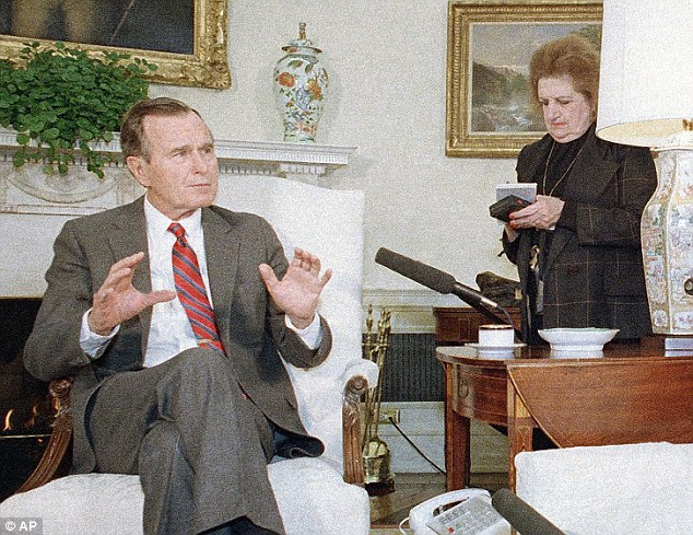 Bush 41: Thomas was less critical of the first President Bush than she was of his son, George W. Bush