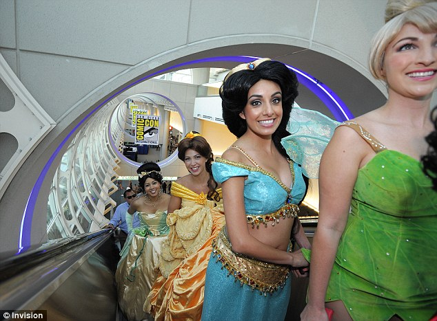 When you wish upon a star: Fans dressed as Disney princesses pile into Comic-Con 2013