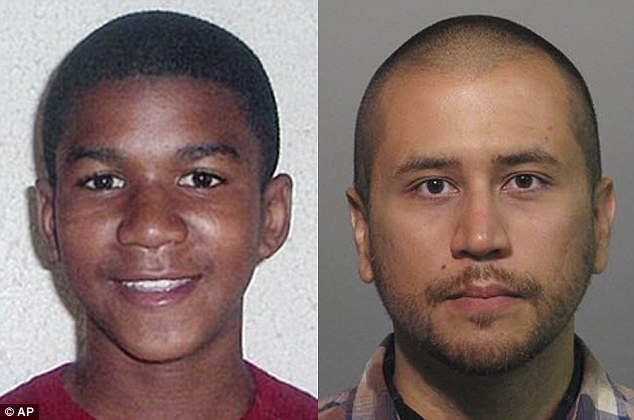 Verdict: George Zimmmerman, right, was found not guilty in the shooting death of Trayvon Martin, left