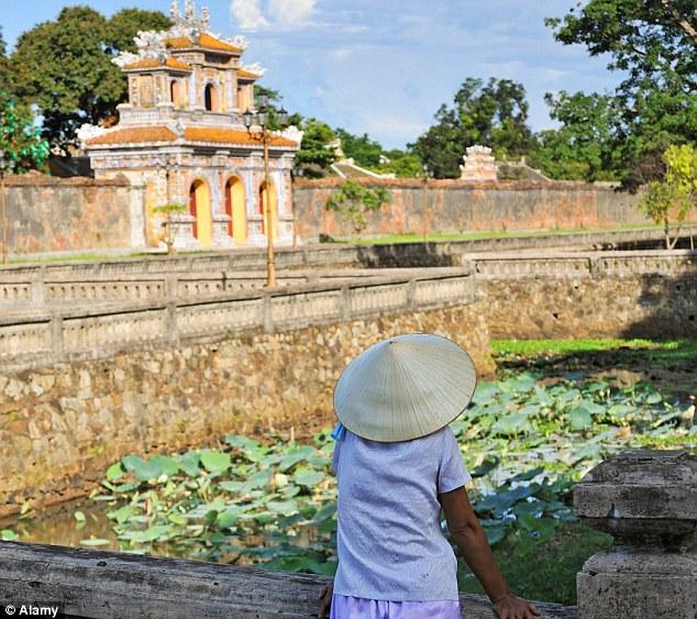 Outside the Citadel of Hue, Vietnam